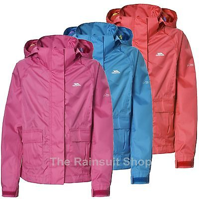 KIDS TRESPASS  WATERPROOF TWISTER HOODED  JACKET GIRLS RAIN COAT 3-12yrs
