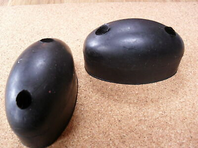 Pair Of Oval Double Mouse Rubber Buffers,  Dropside, Horsebox, Trailer, Pickup