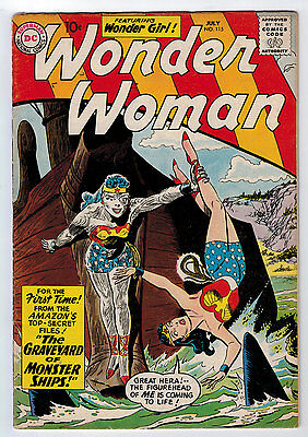 Wonder Woman #115 4.5 Off White Pages Silver Age