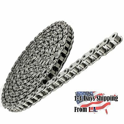 #80 SS Stainless Steel Roller Chain 10 Feet with 1 Connecting Link