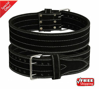 2Fit Weight Lifting Nubuck Leather Power Belt GYM Training Back Support Gear L