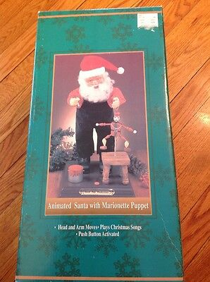 North Pole Productions Animated Santa with Marionette Puppet