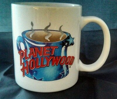 SOUVENIR Planet Hollywood Coffee Mug with Steaming Cup of Coffee