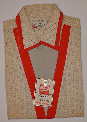VINTAGE 1950s UNUSED ELY & WALKER BOY'S ROCKABILLY LOOP COLLAR SHIRT! E&W! NOS 2