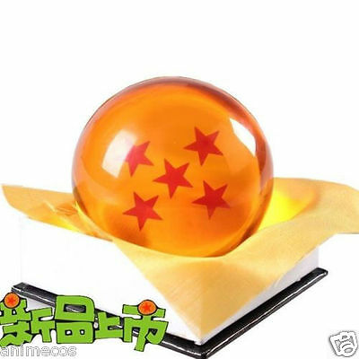 "Dragon Ball DragonBall Z Crystal Ball 5 Stars Diameter 3""/7.5cm Ball New in Box"
