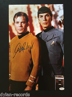 Star Trek Leonard Nimoy William Shatner Autograph Signed 11 x 17 Photo JSA COA