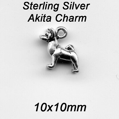 Sterling silver AKITA 3D Dog Charm apx 2 Grams