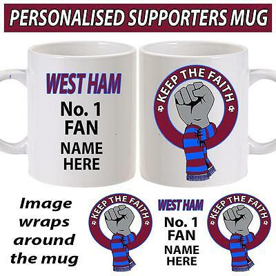 Personalised West Ham Keep The Faith Unoffical Football Supporter Cup Coffee Mug