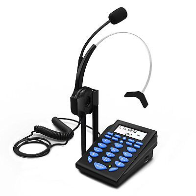 Work From Home Office Telephone Call Center Dial Key Pad+Headset For Magic Jack+