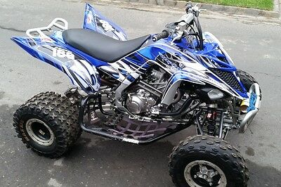 Yamaha Raptor 700 700R graphics 2013 2014 2015 2016 2017 custom kit #4444 Blue
