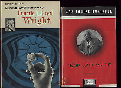 FRANK LLOYD WRIGHT lot of two hardbacks by Ada Louise Huxtable & Doris Ransohoff
