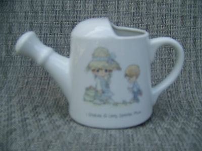 "Precious Moments Watering Can Figurine "" I Picked a Very Special Mom "" Porcelain"