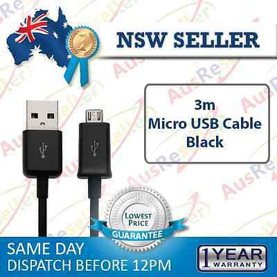 3m 10cm Micro USB Data Sync Charging Cable for Samsung Galaxy S3 S4 Note HTC