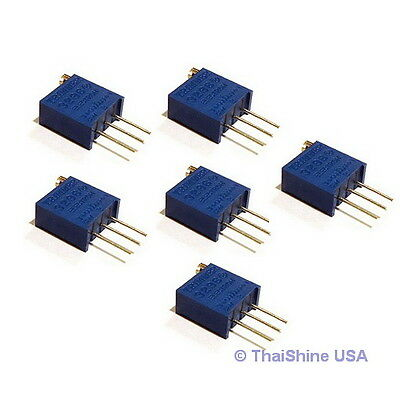 5 x 10K OHM TRIMPOT TRIMMER POTENTIOMETER 3296W 3296 - USA SELLER Free Shipping