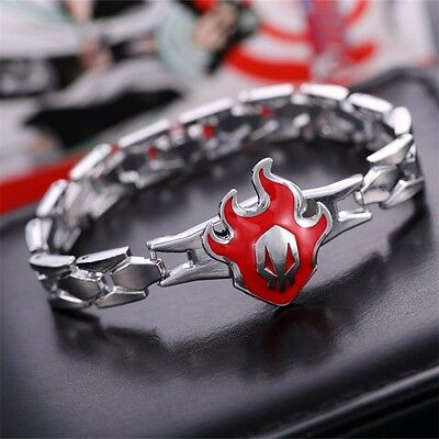 Hot Anime Bleach Rotary Hollow Fire Pendant Metal Bracelet Cosplay Costume Play