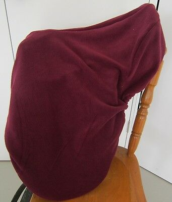 Horse Saddle cover Bridlebag & Free hatbag also EMBROIDERED FREE Burgundy