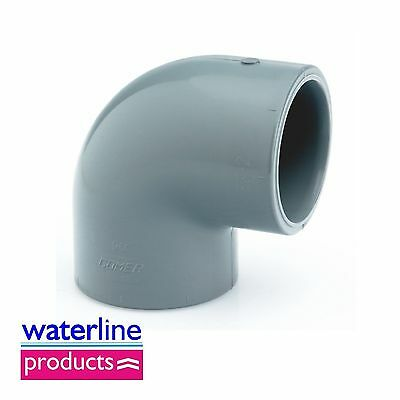 Elbow 90°Plain Solvent Cement Grey uPVC Pipe Fitting Imperial