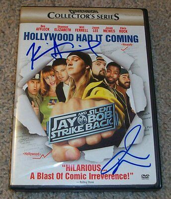 KEVIN SMITH JASON MEWES SIGNED JAY & SILENT BOB STRIKE BACK DVD wPROOF AUTOGRAPH