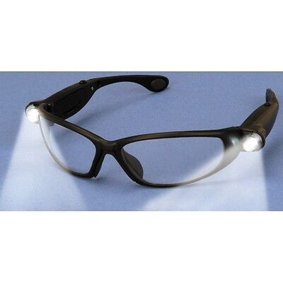 Safety Glasses with LED Lights Eye and Light Protection & Hands Free ANSI Z87.1
