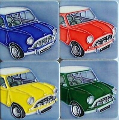 Novelty Classic Mini Set Of 4 Tile Fridge Magnets