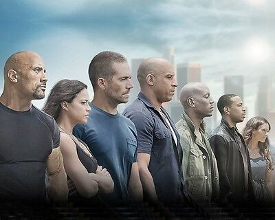 Fast and Furious 7 10x8 Photo