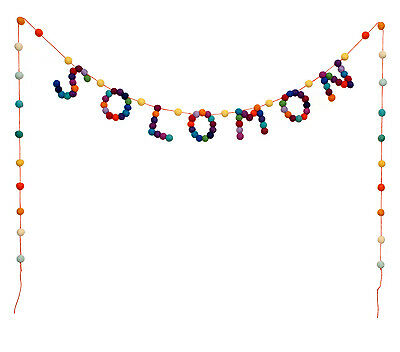 Baby Name Bunting - 7 Letter Custom Made Felt Ball Pom Pom Garland