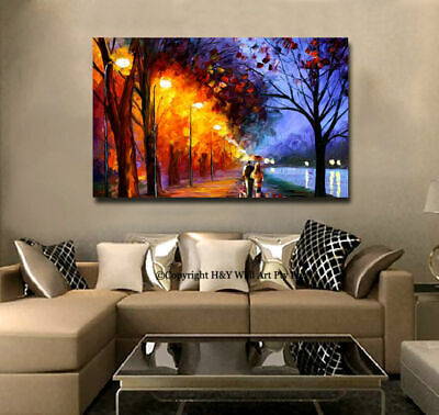 Romantic Night IV Stretched Canvas Print Framed Wall Art Home Decor Painting