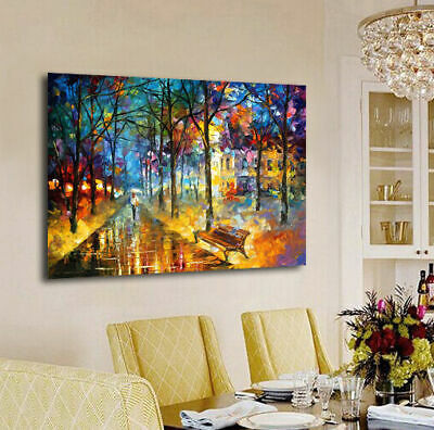 Misty Mood Stretched Canvas Print Framed Hanging Wall Art Home Decor Painting