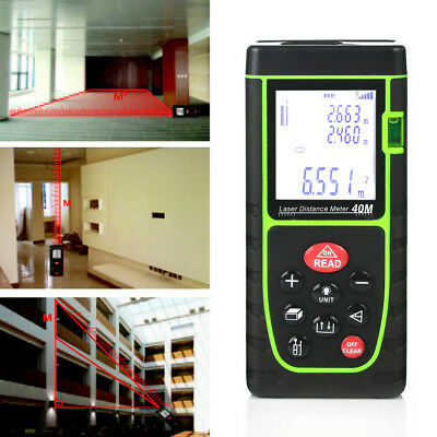 40m/131ft Mini Digital Laser Distance Meter Rangefinder Measure Tape Diastimeter