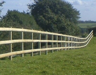 6 X 1.8M 100Mm Treated Machine Cut Half Round Wood Post And Rail Fencing