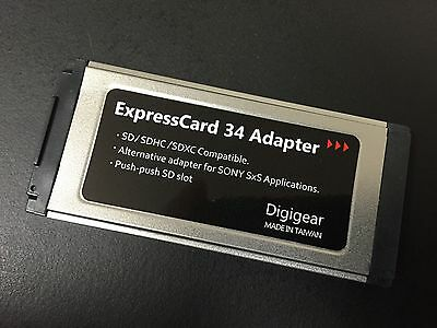 SD/SDHC/SDXC to Expresscard Adapter Reader for SONY SXS Pro Card application