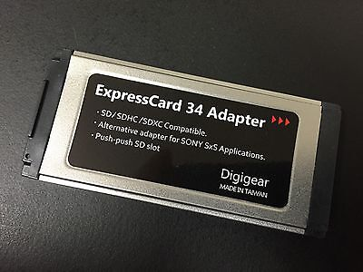 SD/SDHC/SDXC to Expresscard Adapter Reader support 64GB 128GB 256GB