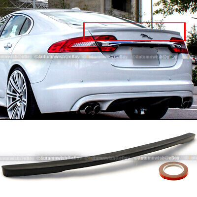 For 09-14 Jaguar XF OE Style Unpainted Black Base Rear Trunk Lip Wing Spoiler