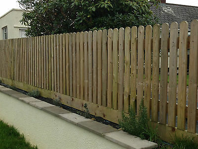 30 Pack 1500Mm (5Ft) Round Top Picket Garden Fence Panels Wood / Pales