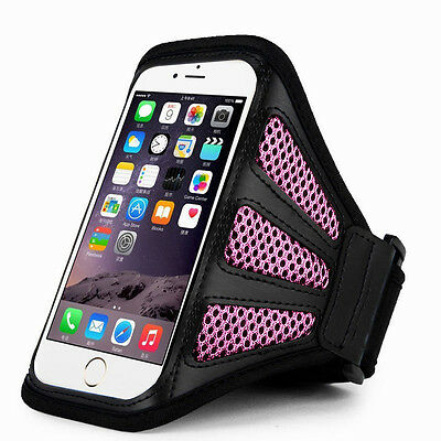 """iPhone 6 Plus 5.5""""  Pink Mesh Running, Jogging, Cycling Armband Mobile Phone Cov"""