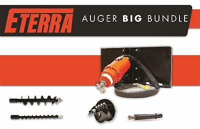 Skid Steer Auger BIG BUNDLE - Landscapers & Contractors - Eterra 4500 Auger