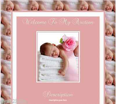 Pink Sleeping New Born Reborn Baby Auction Listing Template