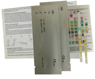 Urinalysis 10 Parameter Professional/GP Urine Test Sticks 3 x 1 Test Strips