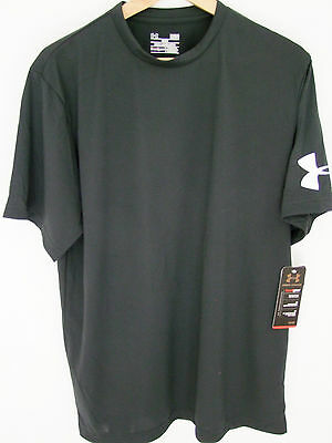 Under Armour Heatgear Baselayer Compression Tops Short Sleeve Black