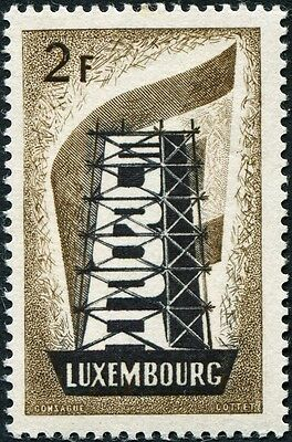 LUXEMBOURG 1956 2f black and bistre-brown SG609 mint MH FG