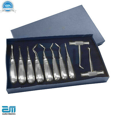 Dental Root Elevators, Extraction Set of 10, Surgical, Bein, Flohr, Heidbrink SS