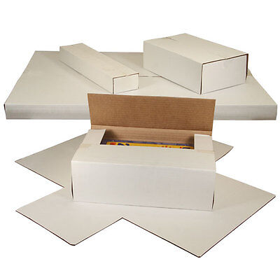 100 LP Combo Set = 50 LP Record Book Box Mailers & 50 Insert Pads