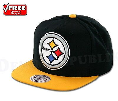 1c63f3ca5c1 PITTSBURGH STEELERS Mitchell   Ness Cap Black Adjustable NFL Hat Adjustable