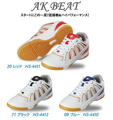 Nittaku AK Beat - Table Tennis Shoes (Blue, Black or Red)
