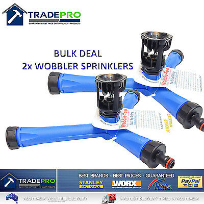 2X Wobble Tee Pro Sprinkler 2017 Aussie Model Water Saving Grass Lawn Garden