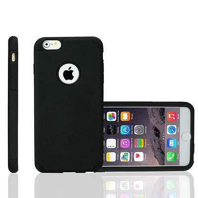 For iPhone 6S 4.7 Hard&Soft Rubber Hybrid Armor Impact Defender Case Cover Black