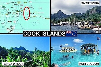 SOUVENIR FRIDGE MAGNET of THE COOK ISLANDS