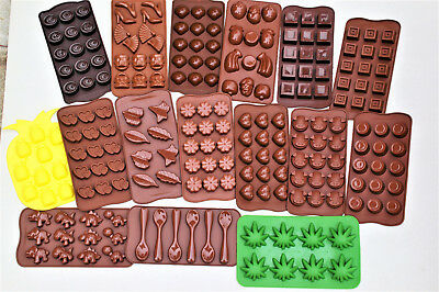 Chocolate Silicone Sweet Moulds -Heart -Flower -Rolo -Munchie -Shell - Shoes