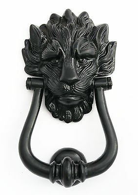 Black Cast Iron Lion's Head Door Knocker  Number 10 Downing Street Door Knockers
