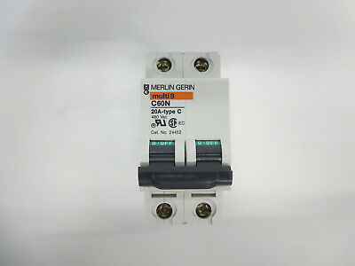 Square D Mg24452 Circuit Breaker 2 Pole 20 Amp C Thermal Magnetic (Case Of 6)